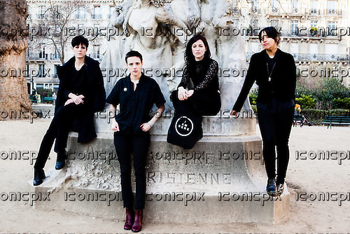 SAVAGES<br />  - L-R: Gemma Thompson, Jenny Beth, Fay Milton, Ayse Hassan - photosessin in Paris France - 19 Feb 2013.   Photo credit: Philippe Mazzoni/Dalle/IconicPix
