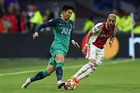 Perr Schuurs of Ajax and Son Heung-Min of Tottenham Hotspur during AFC Ajax vs Tottenham Hotspur, UEFA Champions League Football at the Johan Cruyff Arena on 8th May 2019