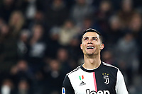 Calcio, Serie A: Juventus - Milan, Turin, Allianz Stadium, November 10, 2019.<br /> Juventus' Cristiano Ronaldo reacts during the Italian Serie A football match between Juventus and Milan at the Allianz stadium in Turin, November 10, 2019.<br /> UPDATE IMAGES PRESS/Isabella Bonotto