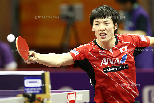 Kenta Matsudaira (JPN),<br /> APRIL 28, 2015 - Table Tennis :<br /> 2015 World Table Tennis Championships<br /> Men's singles<br /> 1st round match <br /> at Suzhou International Expo Centre, Suzhou, China. <br /> (Photo by Shingo Ito/AFLO SPORT)
