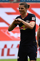 24th May 2020, Opel Arena, Mainz, Rhineland-Palatinate, Germany; Bundesliga football; Mainz 05 versus RB Leipzig;  Marcel Sabitzer (RB Leipzig) celebrates his goal for 0:3 in the 36th minute