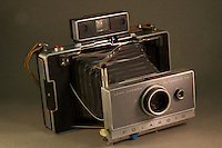 Vintage Camera photograqphed in the studio.  (Photo by Brian Cleary/www.bcpix.com)  A vintage Polaroid Land Camera, Automatic 100, photographed in the studio.  (Photo by Brian Cleary/www.bcpix.com)