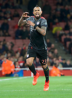 Arturo Vidal of Bayern Munich celebrates after scoring their 4th goal to make it 1-4 during the UEFA Champions League round of 16 match between Arsenal and Bayern Munich at the Emirates Stadium, London, England on 7 March 2017. Photo by Alan  Stanford / PRiME Media Images.