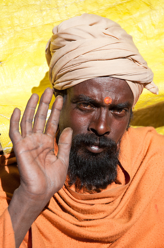 A sadhu at Gangotri, the temple near the source of the Ganges