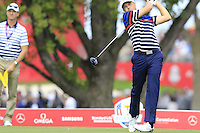 Jordan Spieth US Team tees off the 12th tee during Thursday's Practice Day of the 41st RyderCup held at Hazeltine National Golf Club, Chaska, Minnesota, USA. 29th September 2016.<br /> Picture: Eoin Clarke | Golffile<br /> <br /> <br /> All photos usage must carry mandatory copyright credit (&copy; Golffile | Eoin Clarke)