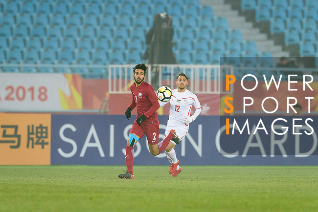 Qatar vs Palestine during the AFC U23 Championship China 2018 Quarter Finals match at Changzhou Olympic Sports Center on 19 January 2018, in Changzhou, China. Photo by Marcio Rodrigo Machado / Power Sport Images