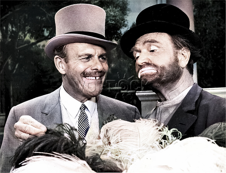 Comedians Terry-Thomas and Red Skelton in The Red Skelton Show, 1967