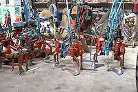 equipment for ploughing and tilling soil domaine maillard chorey-les-beaune cote de beaune burgundy france