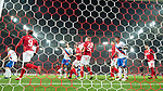 08.11.18 Spartak Moscow v Rangers: Alfredo Morelos can't get the ball over the line in the last minute