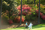 AUGUSTA, GA: APRIL 10 - Joost Luiten of the Netherlands walks to the first green during the first round of the 2014 Masters held in Augusta, GA at Augusta National Golf Club on Thursday, April 10, 2014.. (Photo by Donald Miralle)