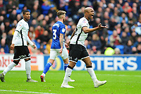 Andre Ayew of Swansea City during the Sky Bet Championship match between Cardiff City and Swansea City at the Cardiff City Stadium in Cardiff, Wales, UK. Sunday 12 January 2020