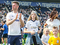 Preston North End's Paul Gallagher applauds the fans during a lap of the pitch<br /> <br /> Photographer Alex Dodd/CameraSport<br /> <br /> The EFL Sky Bet Championship - Preston North End v Burton Albion - Sunday 6th May 2018 - Deepdale Stadium - Preston<br /> <br /> World Copyright &copy; 2018 CameraSport. All rights reserved. 43 Linden Ave. Countesthorpe. Leicester. England. LE8 5PG - Tel: +44 (0) 116 277 4147 - admin@camerasport.com - www.camerasport.com