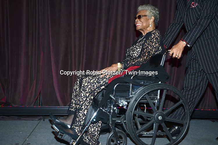 Maya Angelou attends the 2013 National Book Awards Dinner and Ceremony on November 20, 2013 at Cipriani Wall Street in New York City.