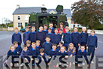 Pupils from Currow National School who was amazed when the Irish Army rolled up in tanks as part of a terrorist attack on Kerry airport training exercise on Thursday