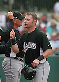 Joe Dillon of the Florida Marlins vs. the Houston Astros March 15th, 2007 at Osceola County Stadium in Kissimmee, FL during Spring Training action.  Photo copyright Mike Janes Photography 2007.