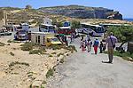 Tourist honeypot site at Dwerja Bay, island of Gozo, Malta