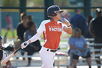 Raul Aragon (4) of Paschal High School in Fort Worth, Texas during the Baseball Factory All-America Pre-Season Tournament, powered by Under Armour, on January 14, 2018 at Sloan Park Complex in Mesa, Arizona.  (Art Foxall/Four Seam Images)