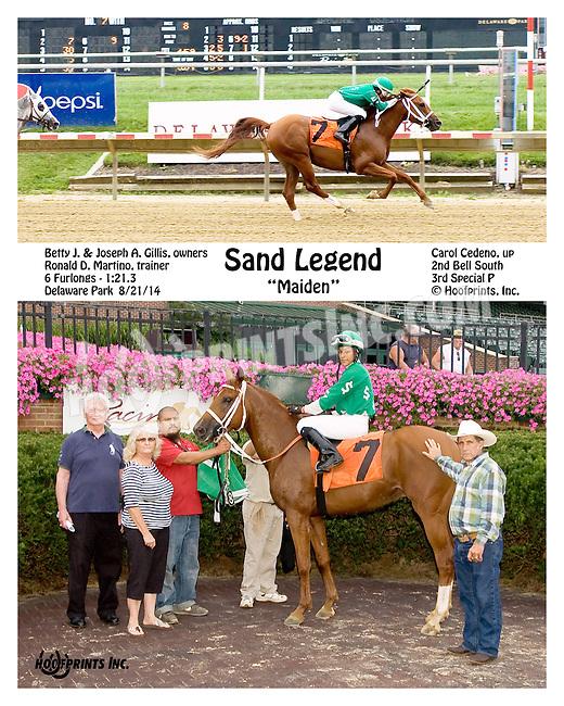 Sand Legend winning at Delaware Park on 8/21/14
