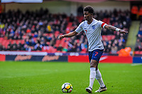 Leicester City's forward Demarai Gray (7) for England U21's during the International Euro U21 Qualification match between England U21 and Ukraine U21 at Bramall Lane, Sheffield, England on 27 March 2018. Photo by Stephen Buckley / PRiME Media Images.