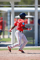 Boston Red Sox outfielder Nicholos Hamilton (41) during a Minor League Spring Training game against the Baltimore Orioles on March 17, 2018 at the jetBlue Park Complex in Fort Myers, Florida.  (Mike Janes/Four Seam Images)