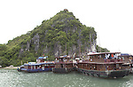 Halong-Vietnam, Ha Long - Viet Nam - 22 July 2005---Touristic infrastructure / activities for visitors brought in by cruisers, at Halong Bay, a UNESCO World Natural Heritage Site---culture, tourism, landscape, nature, transport---Photo: Horst Wagner/eup-images