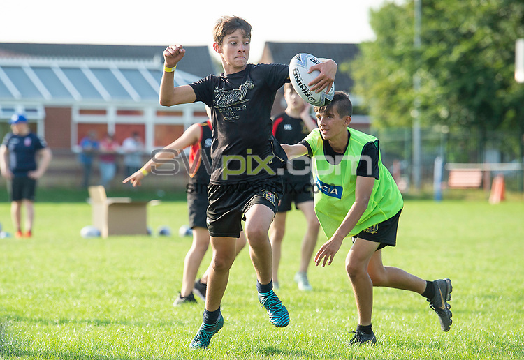 Picture by Allan McKenzie/SWpix.com - 25/07/2018 - Rugby League - Dacia Flair Play - New Spring Lions & Ince Rose Bridge RLFC, Ince-in-Makerfield, England - Dacia Flair Play Awards come to New Spring Lions and Ince Rose Bridge rugby club.