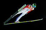 Ilmir Hazentdinov of Russia during the Men's Normal Hill Individual of the 2014 Sochi Olympic Winter Games at Russki Gorki Ski Juming Center on February 9, 2014 in Sochi, Russia. Photo by Victor Fraile / Power Sport Images