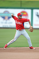 Philadelphia Phillies shortstop Emmanuel Marrero (16) during an Instructional League game against the New York Yankees on September 23, 2014 at the Bright House Field in Clearwater, Florida.  (Mike Janes/Four Seam Images)