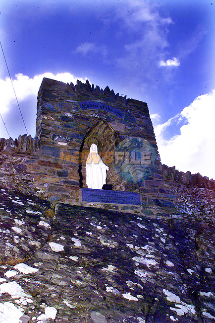 Shrine at Clogherhead harbour..pic:Arthur Carron/ Newsfile