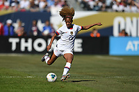 CHICAGO, IL - OCTOBER 06: Casey Short #26 of the United States passes a ball during their game versus Korea Republic at Soldier Field, on October 06, 2019 in Chicago, IL.