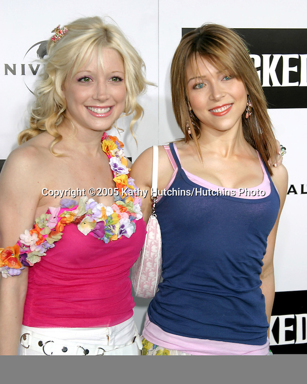 """Courtney Peldon.and Ashley Peldon.""""Wicked"""" Play Opening.Pantages Theater.Los Angeles, CA.June 22, 2005.©2005 Kathy Hutchins / Hutchins Photo"""