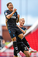 27th June 2020; Bet365 Stadium, Stoke, Staffordshire, England; English Championship Football, Stoke City versus Middlesbrough; Marcus Tavernier of Middlesbrough celebrates his 62 minnute goal for 0-2