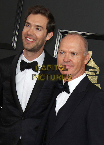12 February 2017 - Los Angeles, California - Michael Keaton, Sean Douglas. 59th Annual GRAMMY Awards held at the Staples Center. <br /> CAP/ADM<br /> &copy;ADM/Capital Pictures