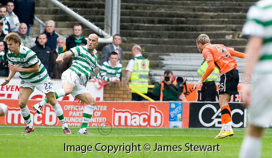 17/10/2010   Copyright  Pic : James Stewart.sct_jsp004_dundee_utd_v_celtic  .:: DAVID GOODWILLIE SCORES UNITED'S FIRST :: .James Stewart Photography 19 Carronlea Drive, Falkirk. FK2 8DN      Vat Reg No. 607 6932 25.Telephone      : +44 (0)1324 570291 .Mobile              : +44 (0)7721 416997.E-mail  :  jim@jspa.co.uk.If you require further information then contact Jim Stewart on any of the numbers above.........