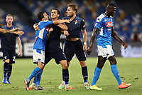 Mario Rui of SSC Napoli and Ciro Immobile of SS Lazio complaints<br /> during the Serie A football match between SSC  Napoli and SS Lazio at stadio San Paolo in Naples ( Italy ), August 01st, 2020. Play resumes behind closed doors following the outbreak of the coronavirus disease. <br /> Photo Cesare Purini / Insidefoto