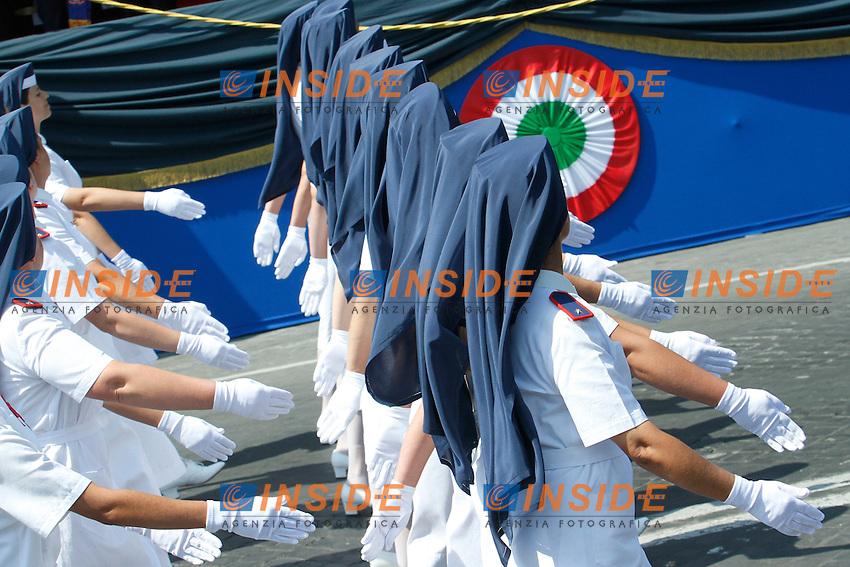 Crocerossine.Roma 02/06/2012 Fori Imperiali. Parata Militare in occasione della Festa della Repubblica.Photo Samantha Zucchi Insidefoto