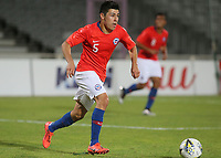 Tomas Alarcon of Chile in action during Chile Under-21 vs England Under-20, Tournoi Maurice Revello Football at Stade Parsemain on 7th June 2019