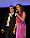 Sean McDermott & Glory Crampton (The Fantasticks, Camelot, Nine) performs at the Broadway Extravaganza to honor the Candidacy of Artist Jane Elissa for the Leukemia & Lymphoma Society, Man & Woman of the Year on April 23, 2012 at the New York Marriott Marquis, New York City, New York.  (Photo by Sue Coflin/Max Photos)