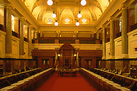 Legislative Chamber in BC Parliament Buildings - Victoria, British Columbia, Canada
