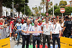 Ready for the start of Stage 6 of the La Vuelta 2018, running 150.7km from Hu&eacute;rcal-Overa to San Javier, Mar Menor, Sierra de la Alfaguara, Andalucia, Spain. 30th August 2018.<br /> Picture: Unipublic/Photogomezsport | Cyclefile<br /> <br /> <br /> All photos usage must carry mandatory copyright credit (&copy; Cyclefile | Unipublic/Photogomezsport)