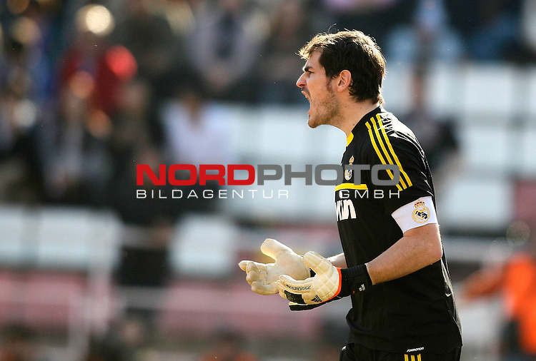 Real Madrid's Iker Casillas reacts during La Liga Match. February 26, 2012. Foto © nph / Alvaro Hernandez) *** Local Caption ***