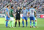10.09.2017, OLympiastadion, Berlin, GER, 1.FBL, Hertha BSC VS. SV Werder Bremen, im Bild <br /> Schiedsrichterin  Bibiane Steinhaus<br /> Vedad Ibisevic (Hertha BSC Berlin #19), Sebastian Langkamp (Hertha BSC Berlin #15), Karim Rekik (Hertha BSC Berlin #4), Theodor Gebre Selassie (Werder Bremen)<br /> <br />       <br /> Foto &copy; nordphoto / Engler