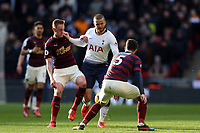 Eric Dier of Tottenham Hotspur and Fabian Schar of Newcastle United during Tottenham Hotspur vs Newcastle United, Premier League Football at Wembley Stadium on 2nd February 2019