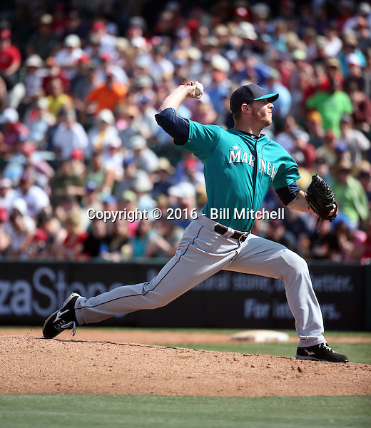 Justin De Fratus - Seattle Mariners 2016 spring training (Bill Mitchell)