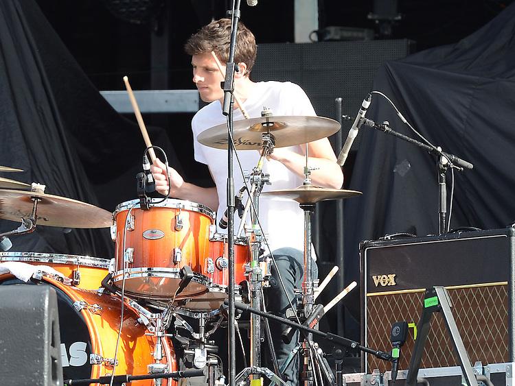 The Coronas performing before Bon Jovi at Slane Castle. Photo:Colin Bell/pressphotos.ie