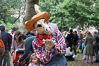 NOVA YORK, EUA, 06.10.2019 - DIA-SAO FRANCISCO - Desfile de animais em comemoração ao dia de Sao Francisco padroeiro dos Animas na Igreja Sao Joao do Divino na Ilha de Manhattan em Nova York. (Foto: Vanessa Carvalho/Brazil Photo Press)
