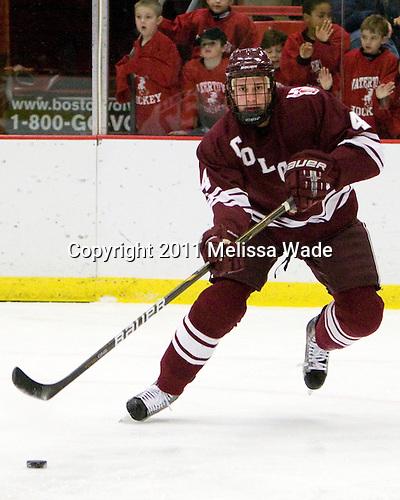 Corbin McPherson (Colgate - 4) - The Harvard University Crimson defeated the visiting Colgate University Raiders 6-2 (2 EN) on Friday, January 28, 2011, at Bright Hockey Center in Cambridge, Massachusetts.