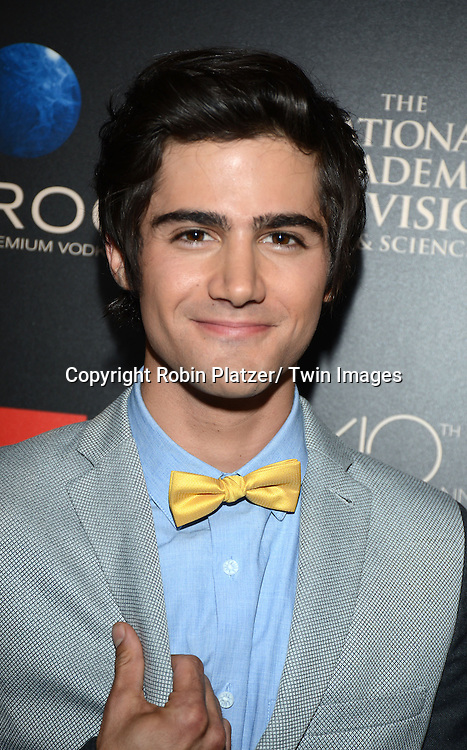Max Ehrich attends The 40th Annual Daytime Emmy Awards on<br />  June 16, 2013 at the Beverly Hilton Hotel in Beverly Hills, California.