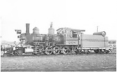 Fireman's-side view of D&amp;RGW 3268 at Gunnison.<br /> D&amp;RGW  Gunnison, CO  5/3/1955