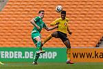 06.01.2019, FNB Stadion/Soccer City, Nasrec, Johannesburg, RSA, FSP, SV Werder Bremen (GER) vs Kaizer Chiefs (ZA)<br /> <br /> im Bild / picture shows <br /> Niklas Moisander (Werder Bremen #18) im Duell / im Zweikampf mit Dumisani Zuma (Kaizer Chiefs #28), <br /> <br /> Foto &copy; nordphoto / Ewert